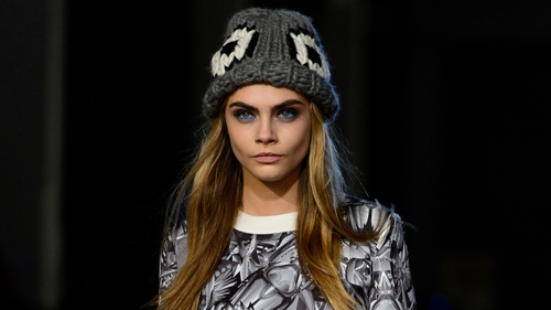 Cara Delevingne at Giles Deacon A/W'14, London Fashion Week