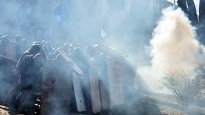 Smoke billows in Kiev