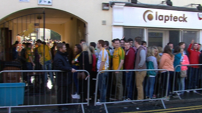 "Gardaí also observed Eyre Street this morning where students began queuing early for ""Donegal Tuesday"" celebrations"