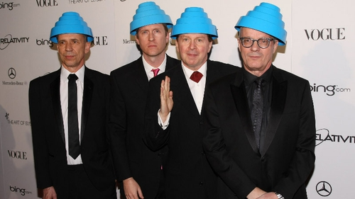 Not just men but Devo: Bob (Casale second from left) with bandmates Bob Mothersbaugh, Gerald Casale and Mark Allen Mothersbaugh