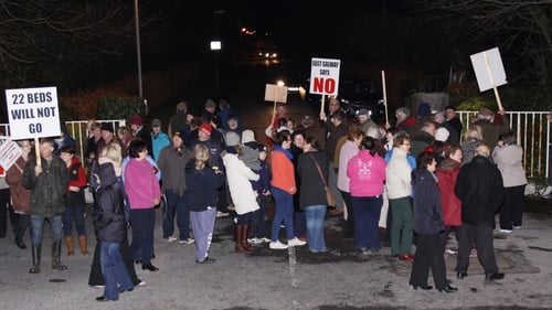 About 150 people staged a protest at St Brigid's Hospital (Pic: Stronge's Photography)