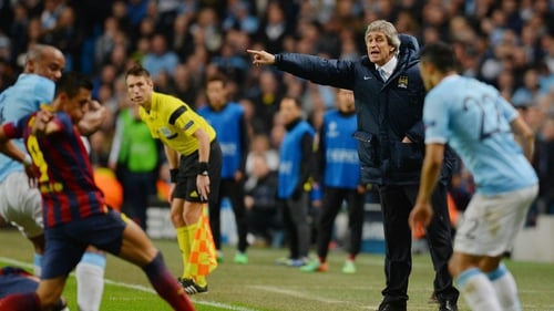 Manuel Pellegrini said the referee favoured the visitors to Manchester