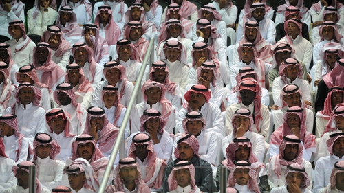 Saudi men at the Janadriya culture festival at Der'iya in Riyadh
