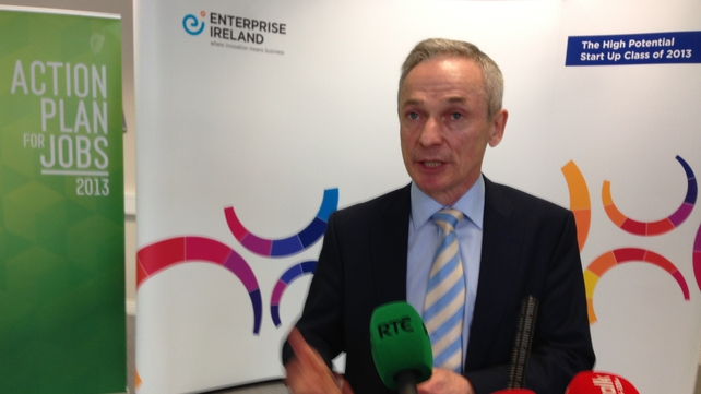 Richard Bruton said the jobs announcement represented what the Action Plan for Jobs trying to achieve