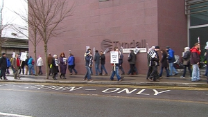 Pickets were placed on the Tyndall Institute this morning