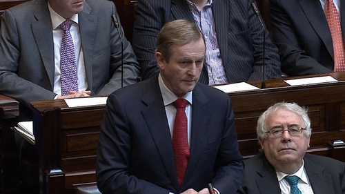Enda Kenny made the announcement to a shocked Dáil