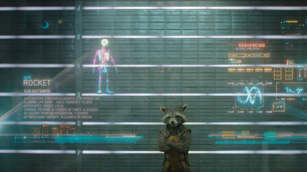 Cooper's character Rocket the raccoon