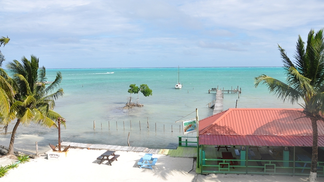 The view from Popeye's Beach Resort, Caye Caulker