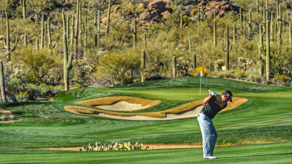 Graeme McDowell gets in a practice round before the World Match Play Championships in Arizona