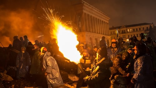The protests began three months ago following the decision by President Yanukovych to reject a trade deal with the EU