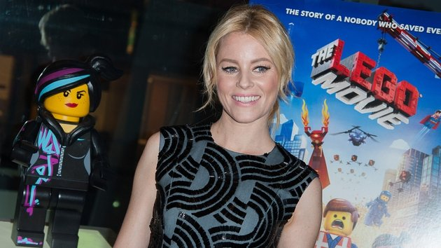 Elizabeth Banks with her Lego Movie character Wildstyle