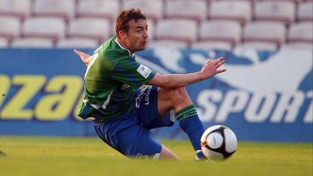 Derek O'Brien in action for Galway United