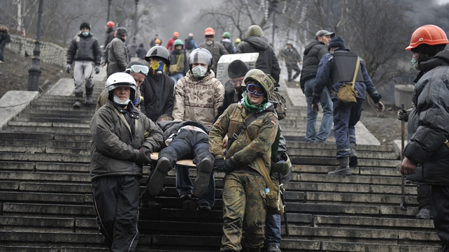 The violence in Kiev claimed nearly 90 lives