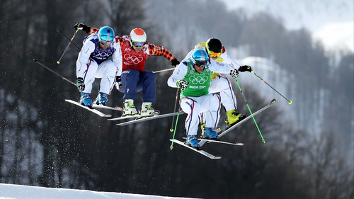 Jean Frederic Chapuis, in green, leads the way
