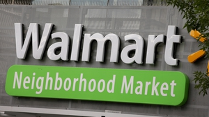 Walmart said it is on track to increase US e-commerce sales by 40% for the full year.