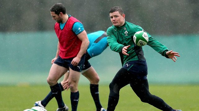 Brian O'Driscoll training at Carton House