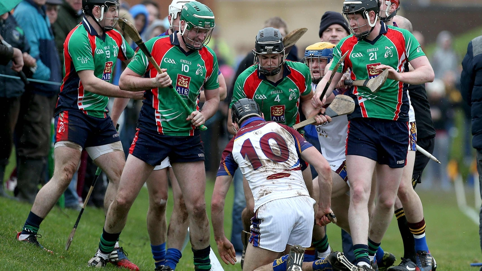 Tempers flare during the Fitzgibbon Cup tie between University of Limerick and Limerick IT
