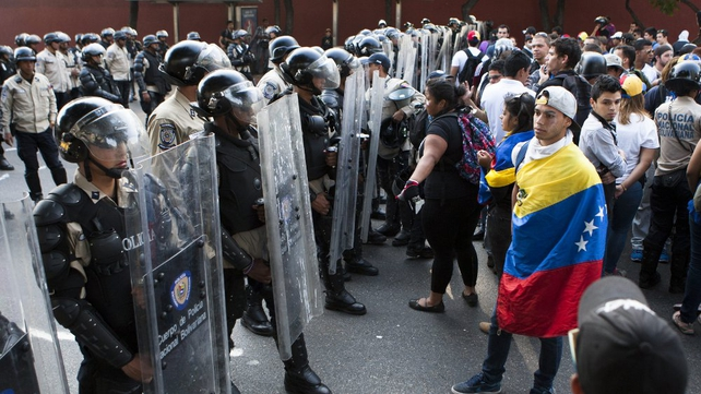 Anti-government protests have escalated across Venezuela (Pic: EPA)
