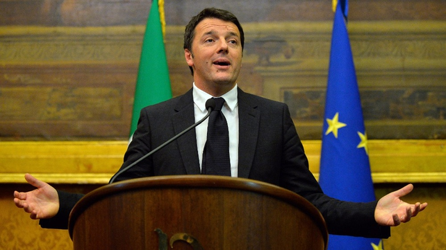Italian Prime Minister Matteo Renzi says austerity on its own can not work