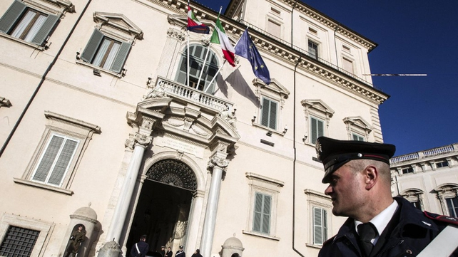 Matteo Renzi accepted the post of PM at Quirinale presidential palace in Rome (Pic: EPA)