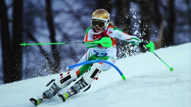 Florence Bell failed to finish in testing conditions at Rosa Khutor Alpine Centre