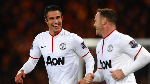 Robin Van Persie and Wayne Rooney scored the goals for David Moyes' side