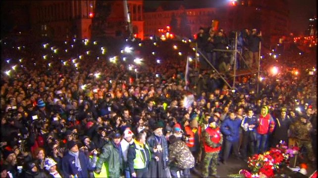 The crowds at Independence Square heard they have earned the right to rule Ukraine