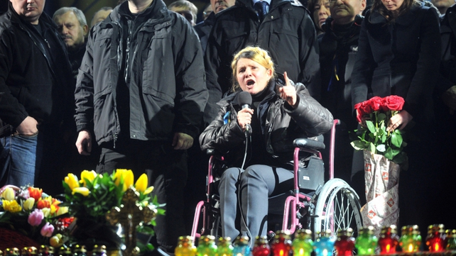 Yulia Tymoshenko had been held under prison guard for much of the time since she was convicted