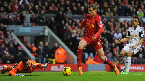 Jordan Henderson said Liverpool were high on confidence and would continue to work hard in training