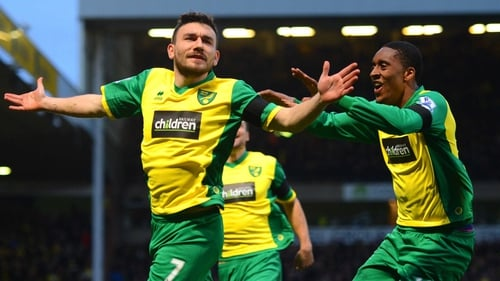 Robert Snodgrass celebrates what proved to be the winning goal