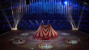 Circus time: A spectacular big top was part of the closing ceremony