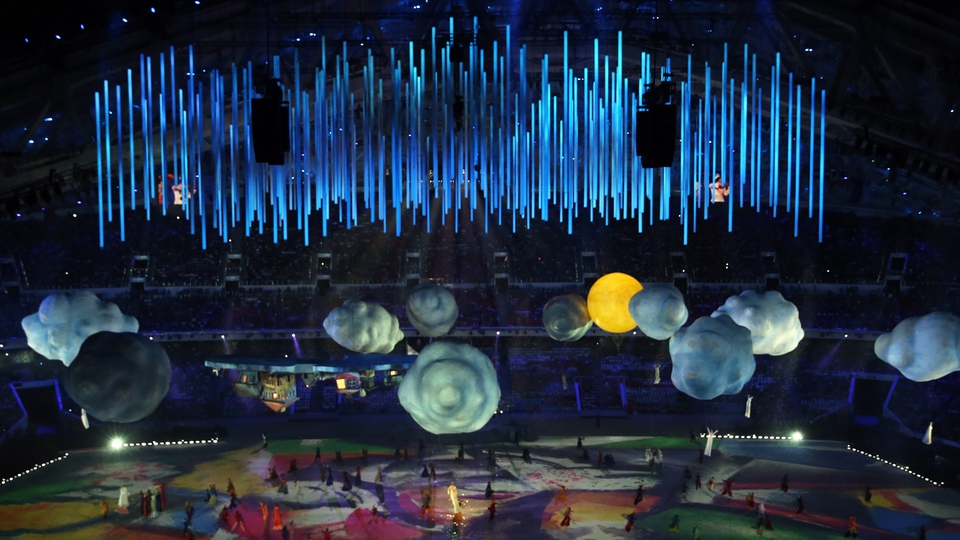 The elements represented in lavish detail at the Sochi ceremony