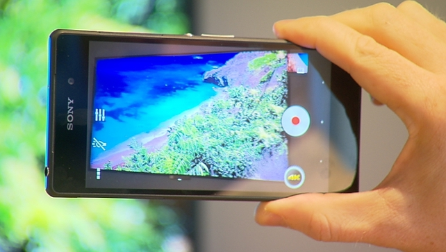 The Xperia Z2 has the first ever Phosphor LED display, which is 5.2 inches in size