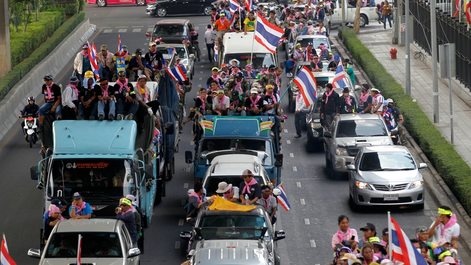 Anti-government protesters in Bangkok (Pic: EPA)