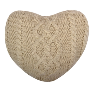 Heart Cable Knit Cushion €10.00