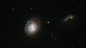 The European Space Agency issued an image from the Hubble Space Telescope of a galaxy known as MCG-03-04-014 (Pic: EPA)