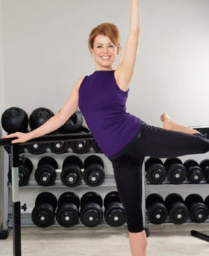 Ballates Barre instructor Kitty Maguire at Aorta Fitness