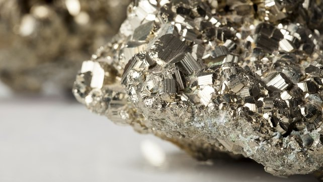 Pyrite expands on contact with water or where there is moisture in the air