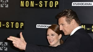 Neeson and his Non-Stop co-star Julianne Moore