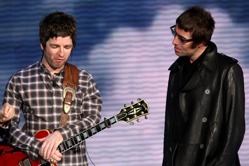 Liam Gallagher (right) has fuelled rumours of an Oasis reunion
