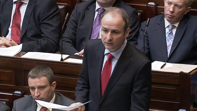 Micheál Martin said blaming the last government was cynical and pathetic