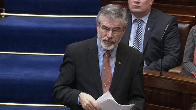 Gerry Adams said the first instinct had been to circle the wagons around senior gardaí