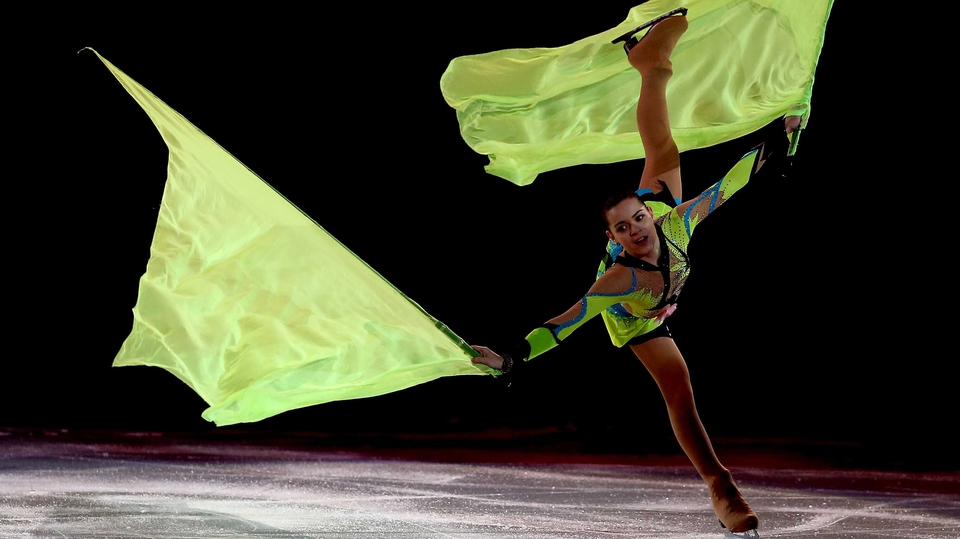 Adelina Sotnikova of Russia skates during the Figure Skating Exhibition Gala at the Winter Olympics