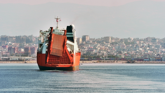 Norwegian ship Taiko entering the harbour of Latakia earlier this month to transport chemical weapons