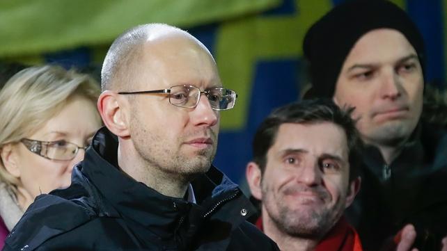 Arseniy Yatsenyuk said Ukraine is 'on the brink of a disaster'