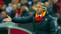 Galatasaray manager Roberto Mancini tells Tony O'Donoghue that they have a chance of beating Chelsea