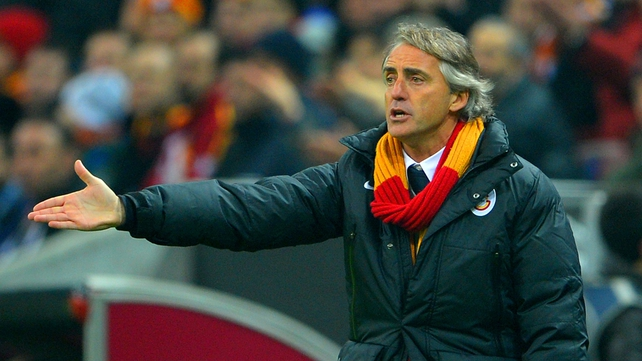 Roberto Mancini managed Galatasaray for one season