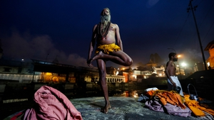 A Sadhu (holy man) attends early morning prayersat the Pashupati Temple in Kathmandu to mark the biggest Hindu festival Maha Shivaratri (Pic: EPA)