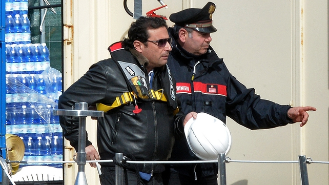 Francesco Schettino was accompanied by court-appointed experts