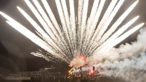 Fireworks explode into the sky above Lake Lucerne marking the start of the Carnival, in Lucerne, Switzerland (Pic: EPA)